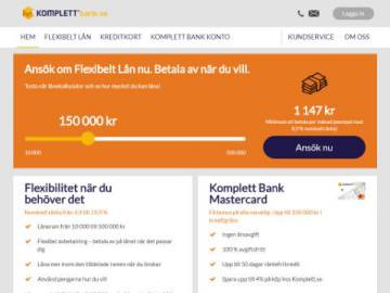 Komplett Bank rabattkod screenshot