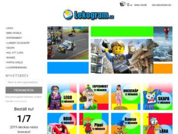 Lekogram rabattkod screenshot